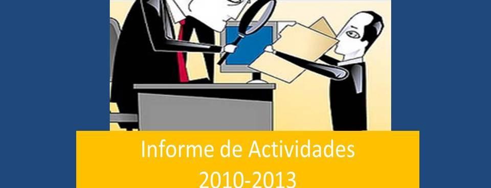 Informe de Actividades 2010-2013.