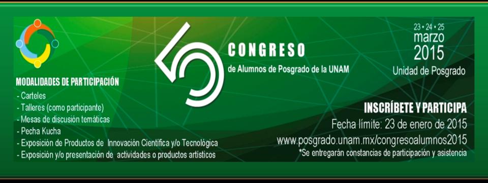 5o. Congreso de Alumnos de Posgrado de la UNAM