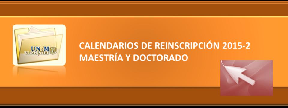 Calendarios de Reinscripción 2015-2