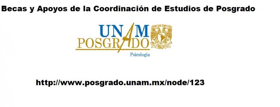 """Becas y Apoyos de la Coordinación de Estudios de Posgrado"""""""