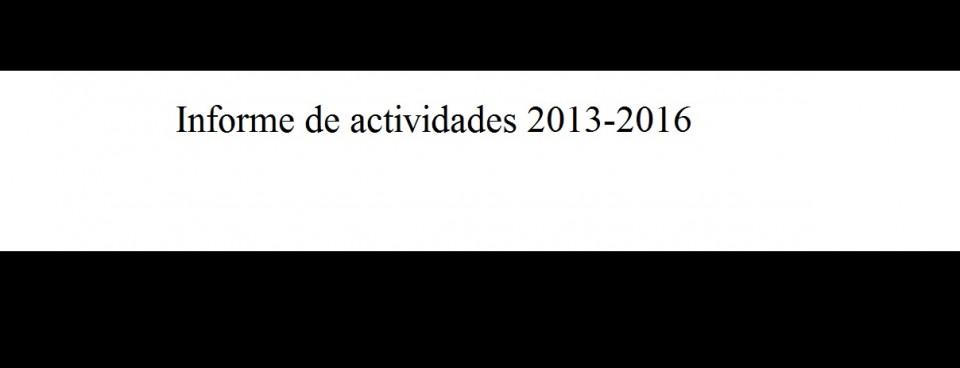 Informe de actividades 2013-2016