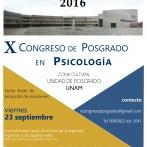 Programa X Congreso de Posgrado en Psicología