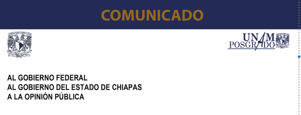COMUNICADO SOBRE CHIAPAS